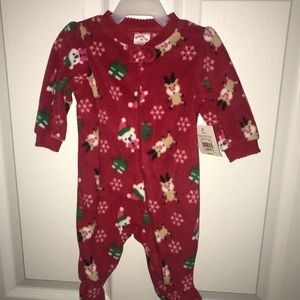 Holiday Time Baby's Red Christmas 1 Piece Outfit